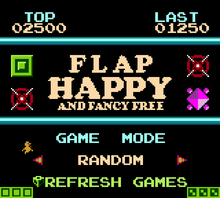 Initial Flap Happy Menu for Gameboy Color